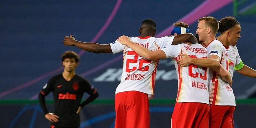 Şampiyonlar Ligi'nde ikinci yarı finalist Leipzig oldu!