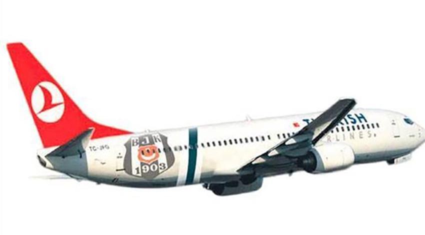 THY uçağına Beşiktaş logosu!