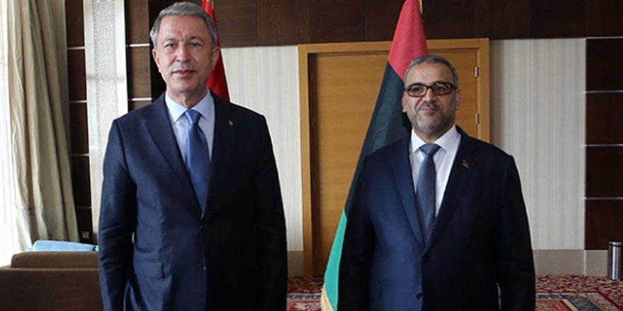 Bakan Akar Libya Yüksek Devlet Konseyi Başkanı ile görüştü!