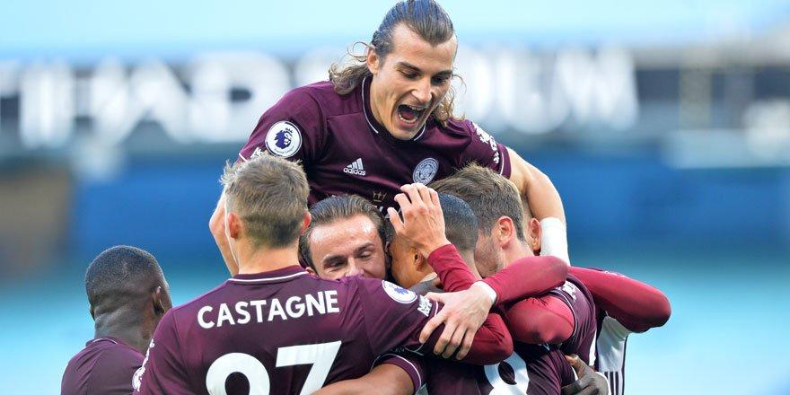 Leicester City, Manchester City'yi farklı mağlup etti!