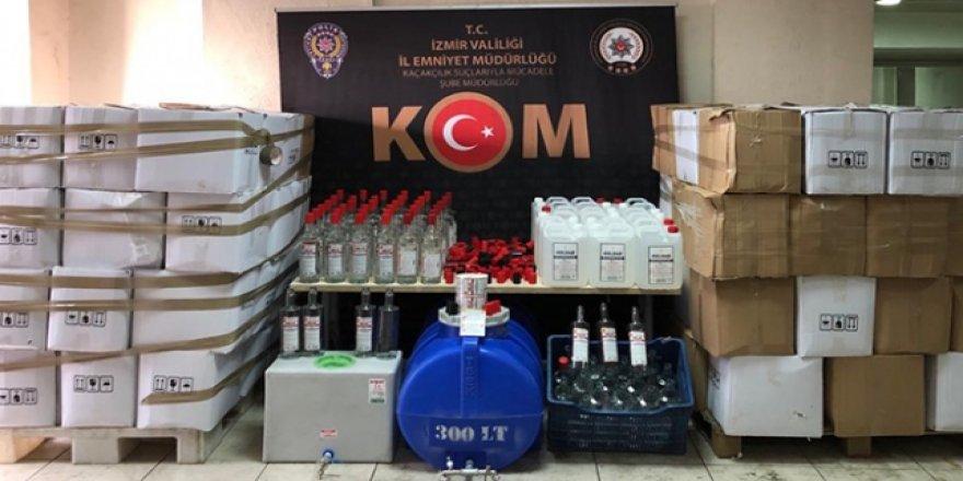 11 bin 583 şişe sahte içki ele geçirildi