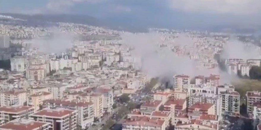 İzmir'deki 6.6'lık deprem oldu! İşte depremden ilk kareler