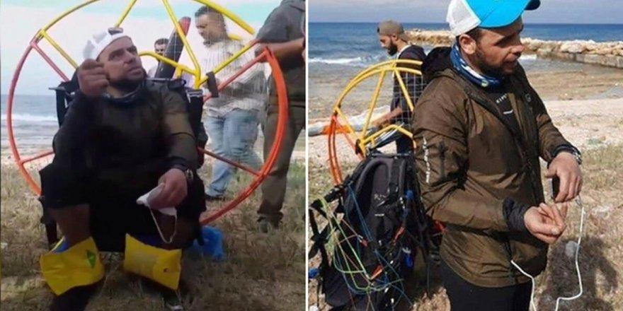 Türk paraşütçü rüzgara kapıldı! Lübnan'a iniş yaptı