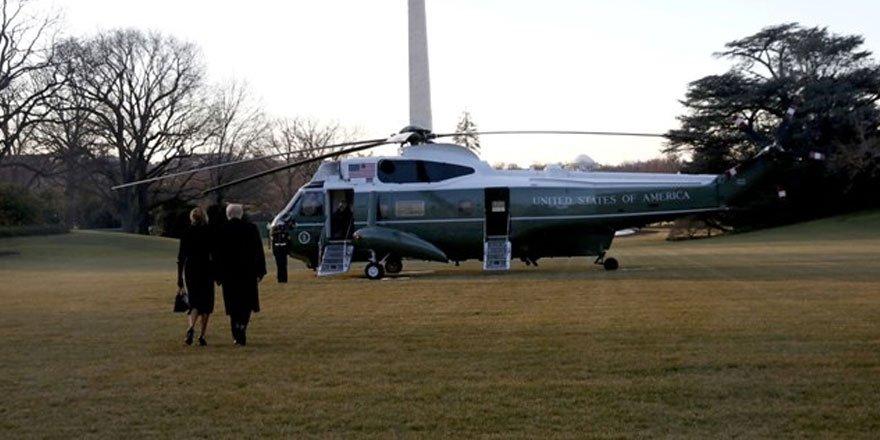Donald Trump ve ailesi Beyaz Saray'dan ayrıldı!