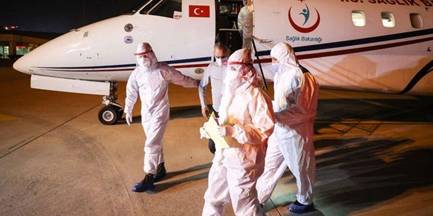 Tanzanya'daki Covid-19 hastası 3 Türk vatandaşı Türkiye'ye getirildi