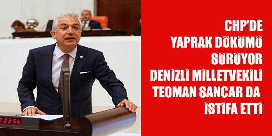 CHP'de istifalar sürüyor: Denizli Milletvekili Sancar da istifa etti