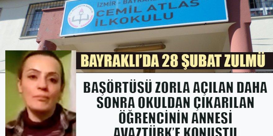 İzmir'in Bayraklı İlçesi Cemil Atlas İlkokulu'nda 28 Şubat'ı aratmayan tavır: Öğrencinin başını zorla açtırıp sonra da okuldan çıkardılar