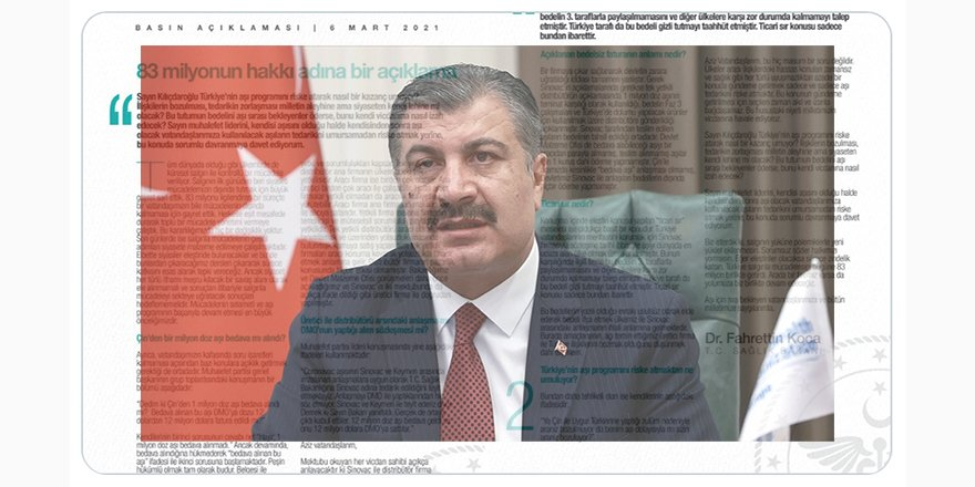 Sağlık Bakanı Koca: Kılıçdaroğlu, ülkenin aşı programını riske atarak nasıl bir kazanç umuyor?