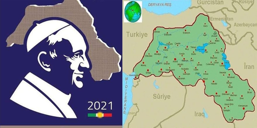 Kuzey Irak yönetiminden Papa namına bastırılan pulda Türkiye'yi parçalayan harita skandalı