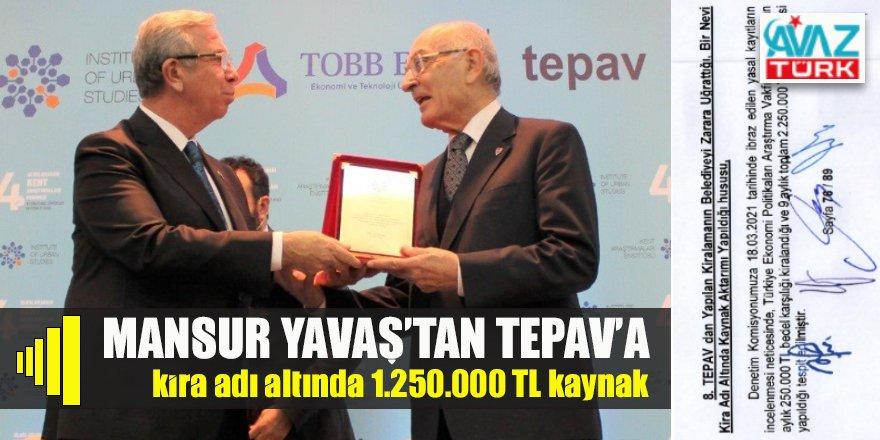 Ankara Büyükşehir'in CHP'li Başkanı Mansur Yavaş'tan TEPAV'a 2.250.000 lira kaynak