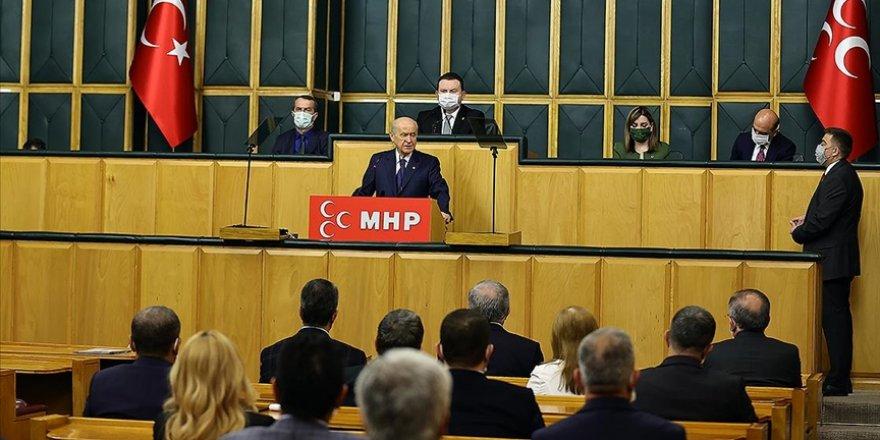 MHP Grubunda konuşan Bahçeli: Terör örgütünün sonu nihayet gelmiştir