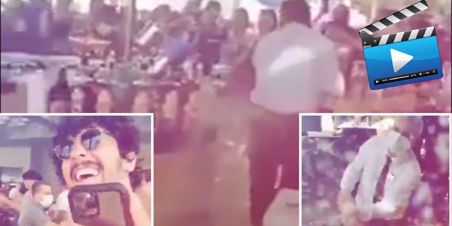 Esnafa kepenk indirtilirken Manavgat'ta turistler eğlencenin dibine vurdu