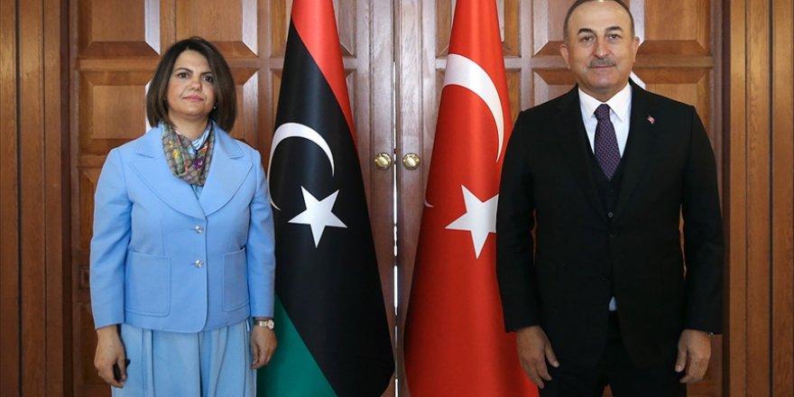 Çavuşoğlu Libyalı mevkidaşı Manguş'la ortak basın toplantısı düzenledi