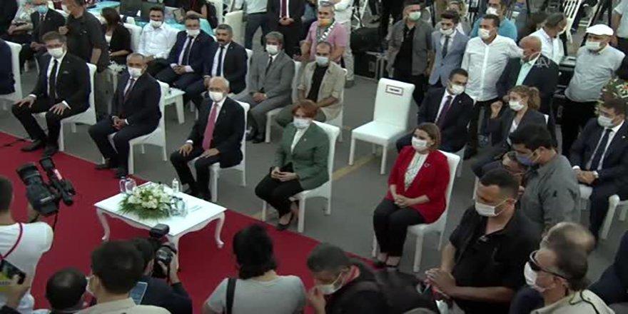 CHP Genel Başkanı Kılıçdaroğlu, Beşiktaş'ta toplu açılış ve temel atma törenine katıldı