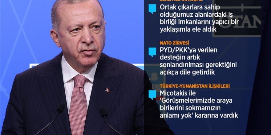 Cumhurbaşkanı Erdoğan NATO zirvesinin ardından açıklamalarda bulundu