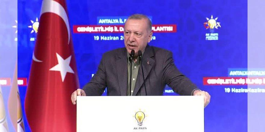 Cumhurbaşkanı Erdoğan, AK Parti Antalya Genişletilmiş İl Danışma Toplantısı'nda konuştu