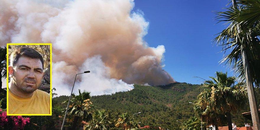 Marmaris'teki orman yangınını söndürme çalışmaları sırasında bir orman işçisi hayatını kaybetti
