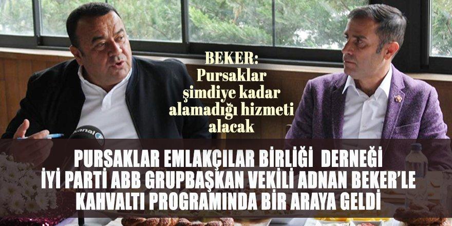 Pursaklar Emlakçılar Birliği Derneği İYİ Parti ABB Meclis Grup Başkanvekili Adnan Beker'i konuk etti