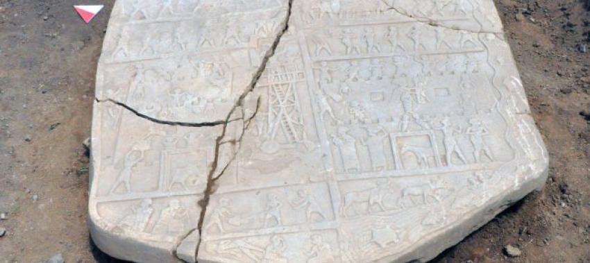 Elazığ'da 2 bin 700 yıllık rölyef bulundu