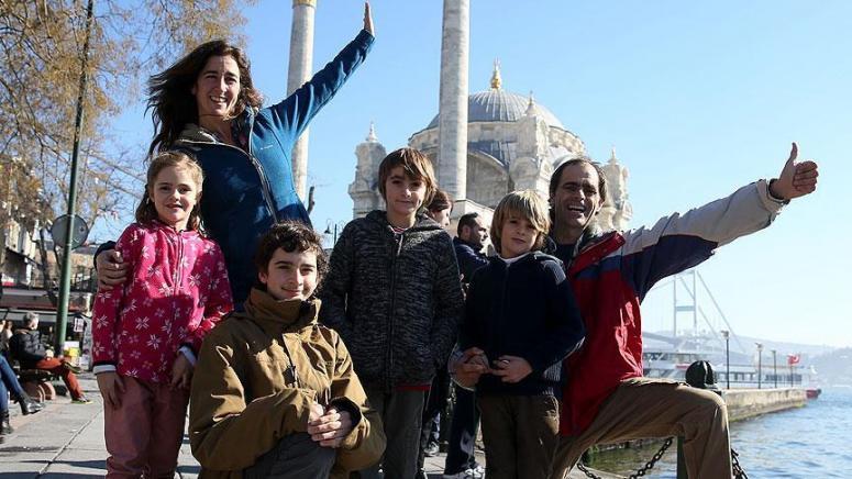 Dünya gezgini aile Türkiye'de
