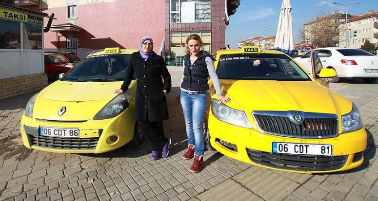 Bu taksiler sadece kadınlara hizmet veriyor