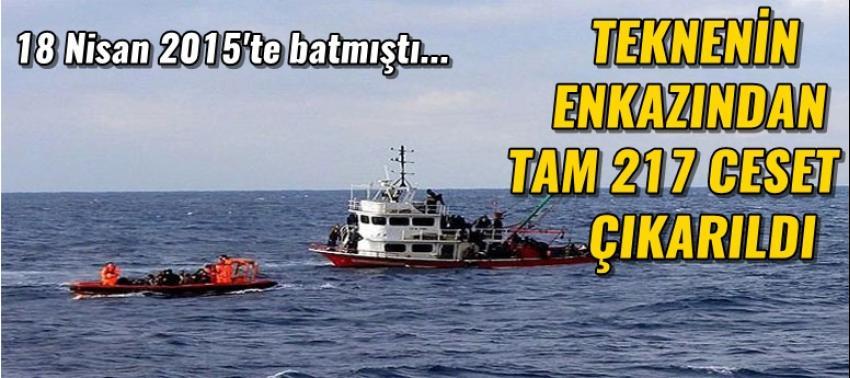 Göçmen teknesinin enkazından 217 ceset çıkarıldı!