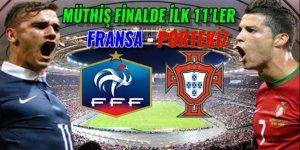 Portekiz-Fransa maçı 11'leri