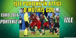 EURO 2016 Portekiz'in Portekiz 1-0 Fransa