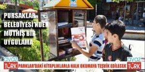 Pursaklar'da müthiş uygulama: Parklarda kitap okunacak