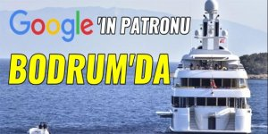 Google'ın patronu Bodrum kıyılarında