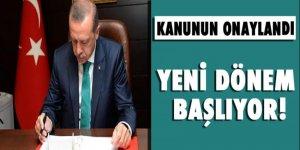 Erdoğan terörle mücadelede başlatacak kanunu onayladı