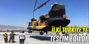 İlk Chinook Türkiye'ye teslim edildi
