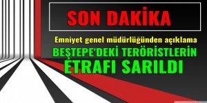 Beştepe'deki teröristlerin etrafı sarıldı