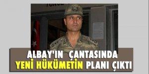 Albay'ın  çantasında yeni hükümetin planı çıktı