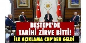 Beştepe'de Tarihi Zirve Bitti! İlk Açıklama CHP'den Geldi