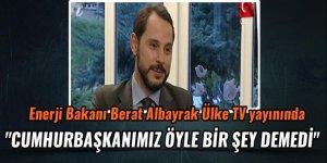 Bakan Berat Albayrak Kanal7-Ülke TV yayınında soruları cevapladı