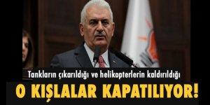Başbakan Yıldırım: 'Askeri Üssler kapatılacak'