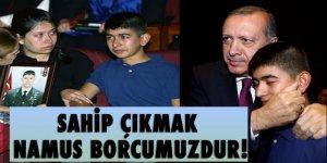 Erdoğan şehit çocuklarına yakın ilgi gösterdi