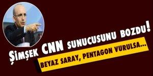 Mehmet Şimşek CNN sunucusunu bozdu