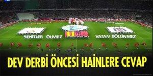Süper Kupa'da 15 Temmuz Demokrasi Şehitlerimiz unutulmadı!