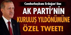 Erdoğan'dan AK Parti'nin kuruluşuna özel tweet