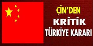 Çin: Türkiye'ye seyahat uyarısını kaldırdı