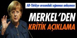 Merkel: 'AB-Türkiye arasındaki sığınmacı anlaşması çok önemli'