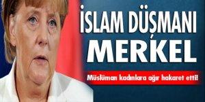 Merkel'den kapalı kadınlara hakaret