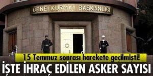 TSK'dan ihraç edilen asker sayısı açıklandı!