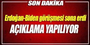 Erdoğan, Biden görüşmesi sona erdi. Açıklama yapılıyor