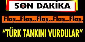 Cerablus'un batısında Türk tankı vuruldu! 3 asker yaralı