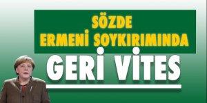 Almanya'dan, Sözde Ermeni Soykırımına 'Geri Vites'!