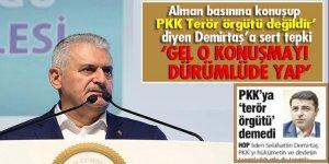 Başbakan Yıldırım'dan Demirtaş'a sert tepki