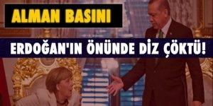Alman basını: Merkel Erdoğan'ın önünde diz çöktü